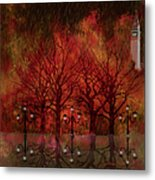 Central Park Ny - Featured Artwork Metal Print