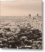 Central Park Pano Sepia Metal Print