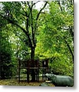 Central Park Playground Metal Print by Claudette Bujold-Poirier