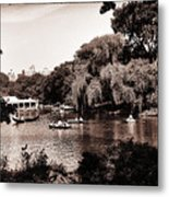 Central Park Rowing - New York City Metal Print