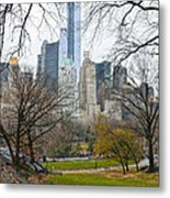 Central Park South Buildings From Central Park Metal Print