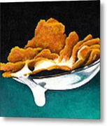 Cereal In Spoon With Milk Metal Print by Janice Dunbar