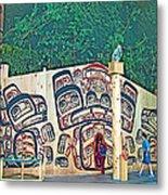 Ceremonial Lodge In Canadian Museum Of Civilization In Gatineau- Metal Print