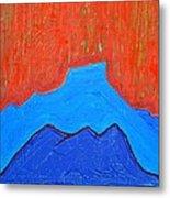 Cerro Pedernal Original Painting Sold Metal Print