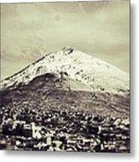 Cerro Rico Potosi Black And White Vintage Metal Print