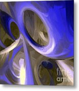 Cerulean Abstract Metal Print