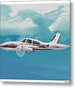 Cessna 310 Twin Engine Metal Print