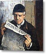 Cezanne's Father Reading Le Evenement Metal Print