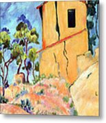Cezanne's House With Cracked Walls Metal Print