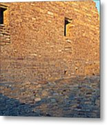 Chaco Canyon Indian Ruins, Sunset, New Metal Print