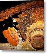 Chain And Sprocket Metal Print