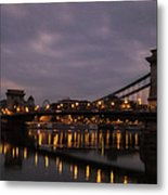 Chain Bridge Dawn Metal Print
