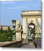 Chain Bridge In Budapest Metal Print