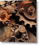 Chain Driven  Metal Print