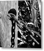 Chain Fence Metal Print
