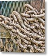 Chained Up Metal Print