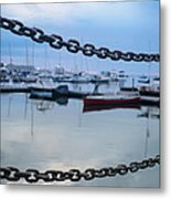 Chains Over The Water Metal Print