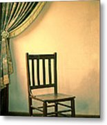 Chair And Curtain Metal Print