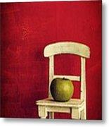 Chair Apple Red Still Life Metal Print