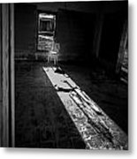 Chair By The Window Metal Print