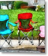 Chair Family Metal Print