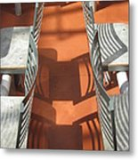Chair Patterns Metal Print