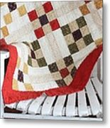 Chair Quilt            Brush Strokes Metal Print