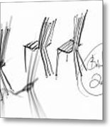 Chair Sculpture Metal Print