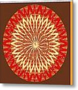 Chakra Mandala With Crystal Stone Healing Energy Plates By Side  Navinjoshi Rights Managed Images Fo Metal Print