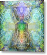 Chakra Tree Anatomy In Chalice Garden Metal Print