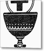 Chalice And Cross Metal Print