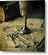Chalice And Keys Metal Print