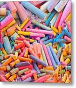 Chalk Colors Metal Print