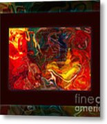 Challenges And Moments In Time Abstract Healing Art Metal Print