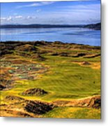 Chambers Bay Golf Course II Metal Print by David Patterson