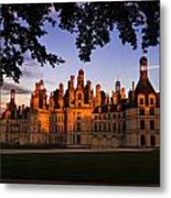 Chambord Castle At Sunset Metal Print