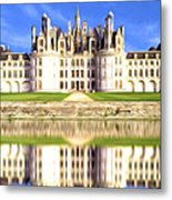 Chambord Castle Metal Print