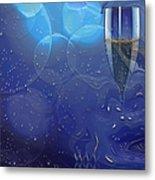 Champagne Blue  Metal Print