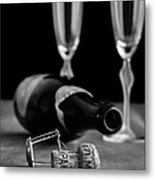 Champagne Bottle Still Life Metal Print by Edward Fielding