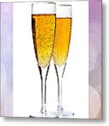 Champagne In Glasses Metal Print by Elena Elisseeva