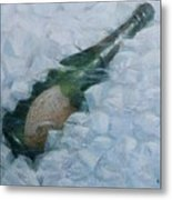 Champagne On Ice Metal Print