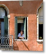 Chance Meeting In Venice Metal Print
