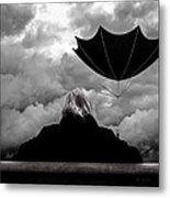 Chance Of Rain   Broken Umbrella Metal Print