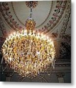 Chandelier At Palace Metal Print