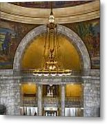 Chandelier At State House Metal Print