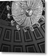 Chandelier-black And White Metal Print
