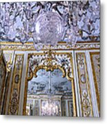 Chandelier Inside Chateau De Chantilly Metal Print