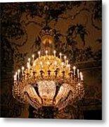 Chandelier Palacio Real Metal Print