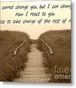 Change Metal Print by Lorraine Heath