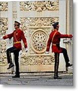 Change Of Guards Ceremony Dolmabahce Istanbul Turkey Metal Print